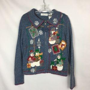 Victoria Jones Women's Snowman Christmas Sweater